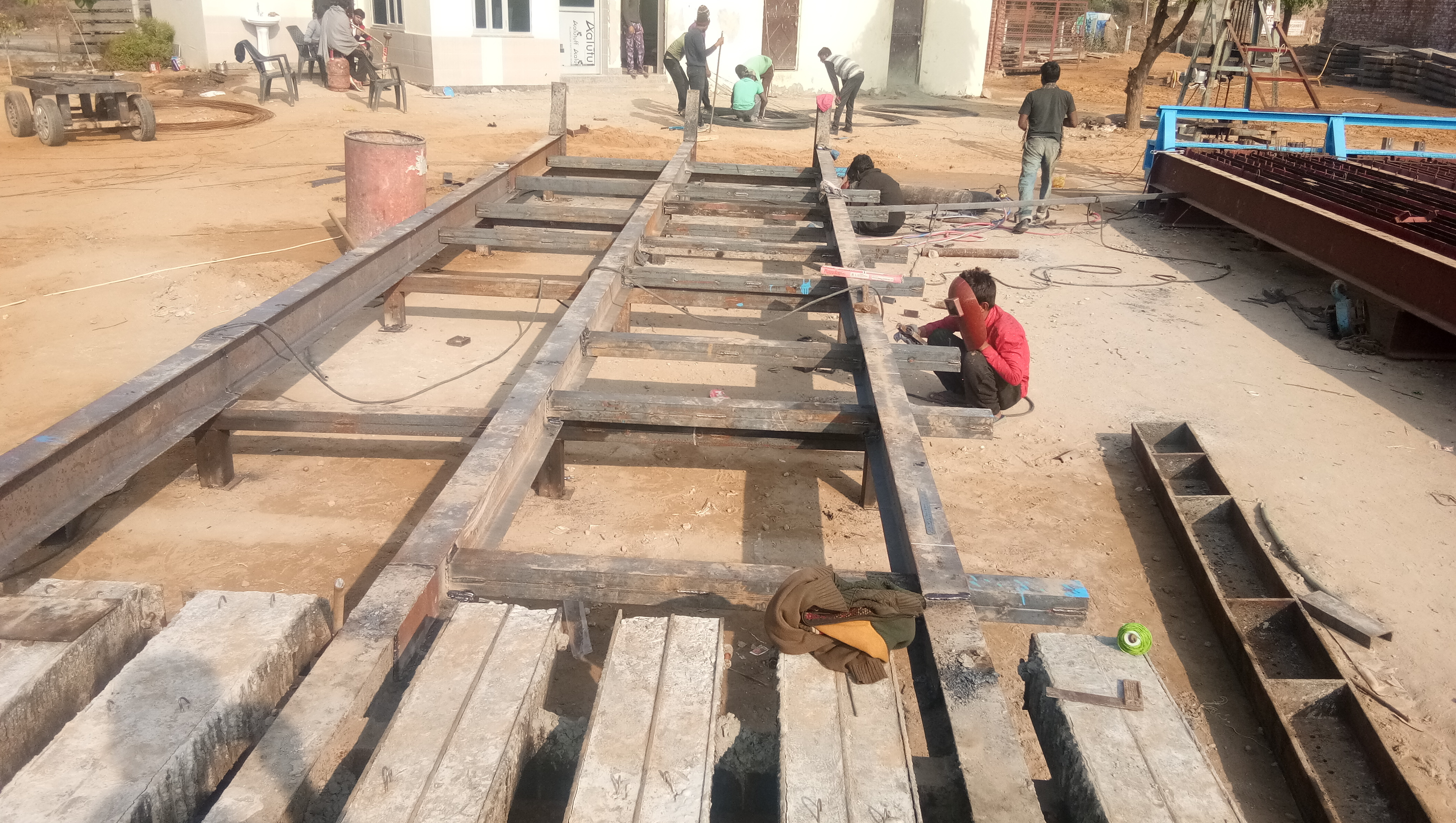Fabrication work for electric pole factory