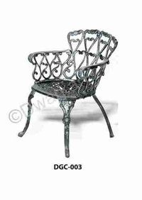 French Antique Cast Iron Chair