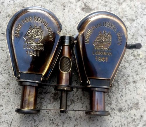 ANTIQUE BRASS POLISHED DOUBLE SPY GLASS Telesope