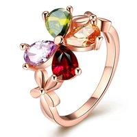 Multicolor crystal ring