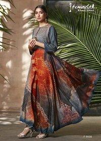 Designer Soft Silk Print Kurtis