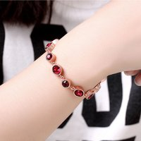 18K Real Rose Gold Plated Bracelet for Women and Girls