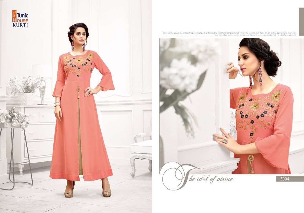 Georgette Gown Style Long Kurtis
