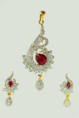 Divine Ruby Pendant Set