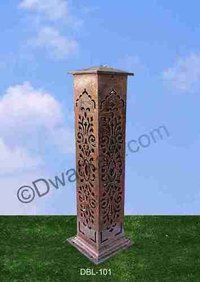Carved Cast Iron Bollard Light