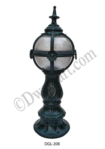 Russian Antique Cast Iron Gate Light