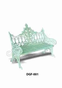Retro Design Cast Iron Garden Sofa