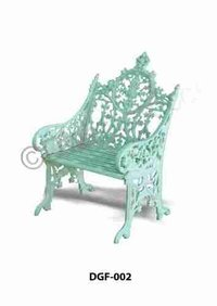 French Design Cast Iron Garden Sofa