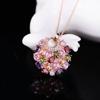18K Real Rose Gold Plated Pendant