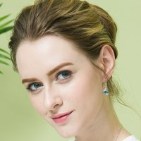 Crystals from Swarovski Angel Guardian Blue Earrings