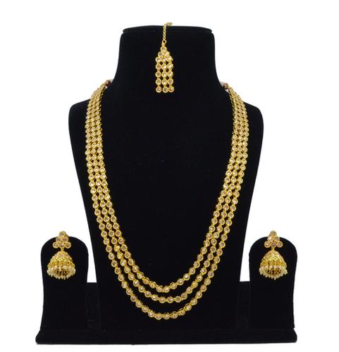 Latest Bollywood Classic Style Antique White Reverse American Diamond AD Necklace Set / Neck Piece / Bridal Set
