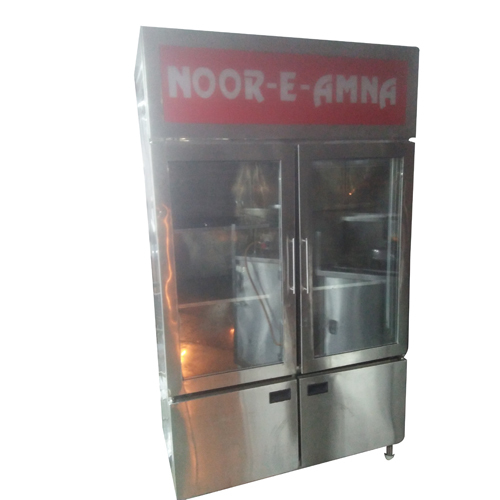 Glass Double Door Refrigerator