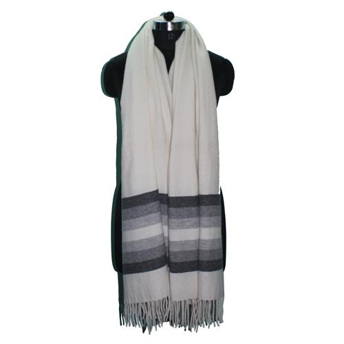 Lamb Wool Yarn Dyed Shawl