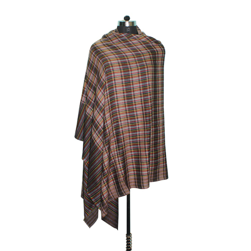 Pashmina Brown Check Shawl