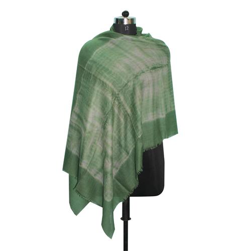 Wool Tie Dye Green Scarf
