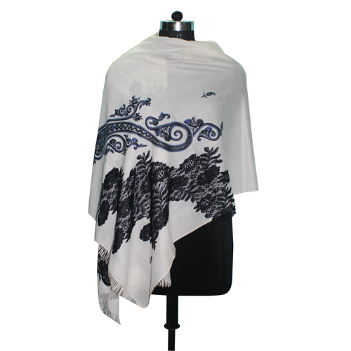 Hand Embroidery Wool Stole