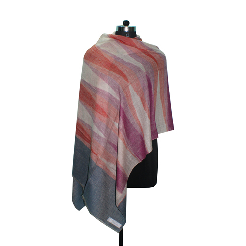Handmade Pashmina Purple Orange Stole
