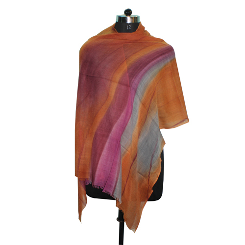 Hand Painted Wool Scarf