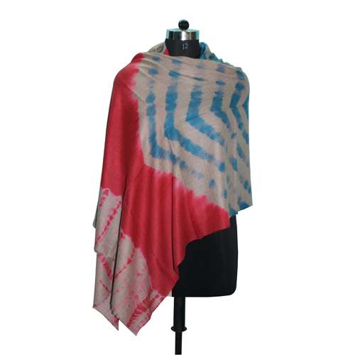 Tie Dye Red Blue Stole