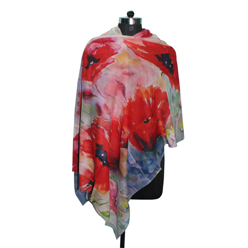 Multicolor Digital Printed Scarf