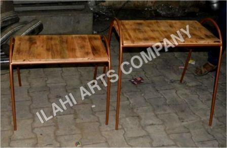 Metal dining stool