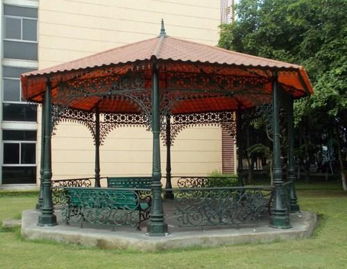 Antique Cast Iron Garden Gazebo