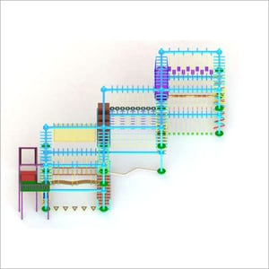 Double Layer Climbing Rope Course