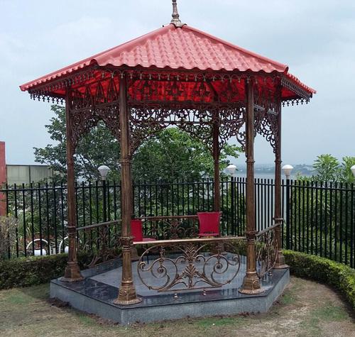 French Antique Cast Iron Garden Gazebo