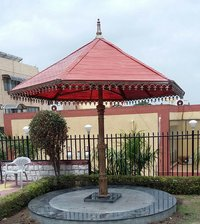Umbrella Design Cast Iron Garden Gazebo