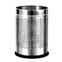 Perforated Open Steel Dustbin
