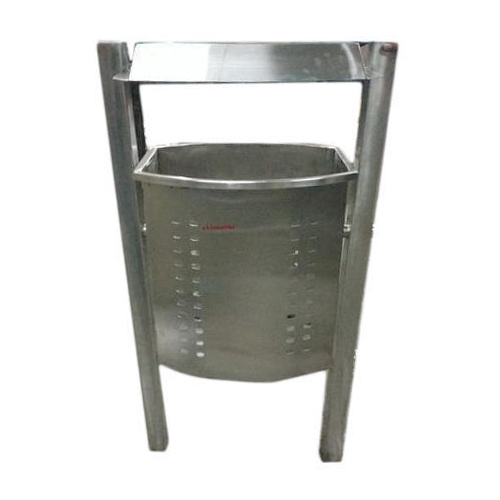 Stainless Steel Dustbin With Stand