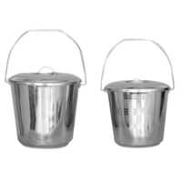 Stainless Steel Bucket With Handle