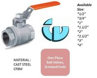One Piece ball valve CF8M