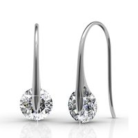 Crystals from Swarovski White Drop Crystal Earrings