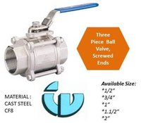 Three Piece Ball Valve CF8