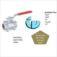 Three Piece Ball Valve CF8M