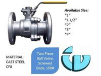 Two Piece Ball Valve Flanged Ends class150 CF8