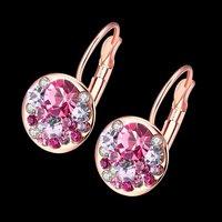A5 Grade Crystal Radiant 18K Rose Gold Clip-On Earrings