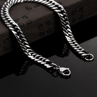 tough Style Silver Stainless Steel Chain Designer Bracelet