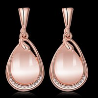 High Grade Austrian Crystal 18K Rose Gold Plated Designer Earrings