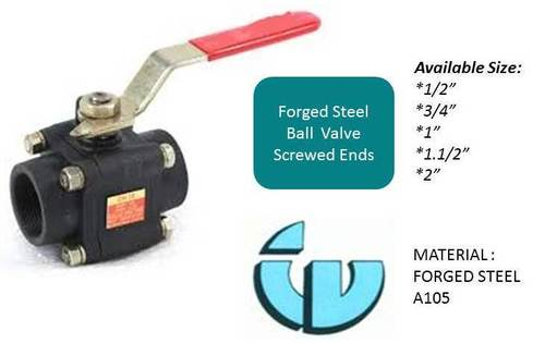 Forged Steel Ball Valve Screwed Ends A105
