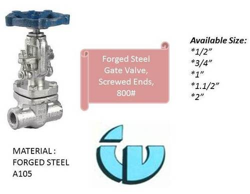 Forged Steel Gate Valve, Class800 A105