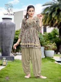 Latest kurti with Dhoti Style patiala