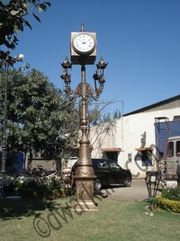 Veronica Cast Iron Clock Post