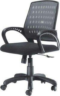 Mesh Revolving Black Chairs
