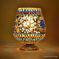 Glass mosaic wall hanging table lamp showpiece