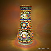 Mozaik Decorated Long Glass Table Lamp