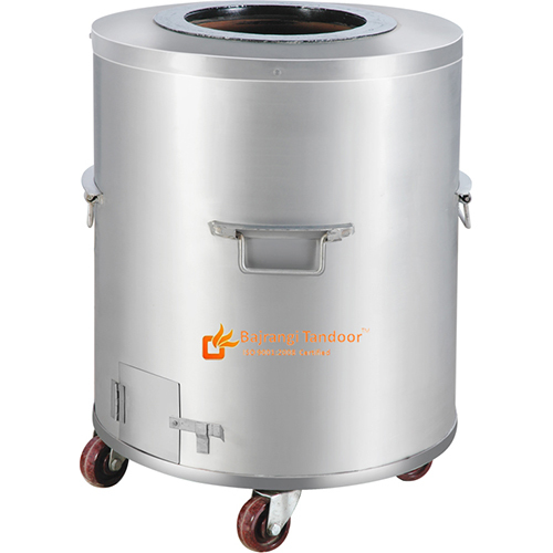 Stainless Steel(SS) Round Tandoor-Catering (Gas-Charcoal)