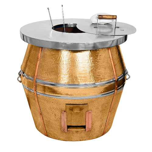Copper Round Tandoor