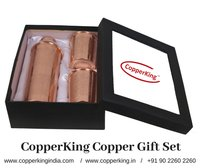 Copper Gift Set (Embossed Bottle with two Glass)